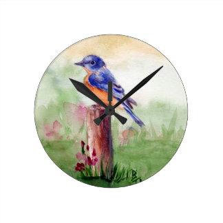 Horloge murale de chanson d'oiseau bleu