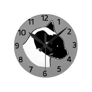 Horloge murale de chat siamois de Lion