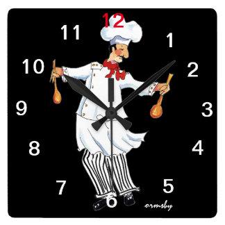 Horloge murale de chef