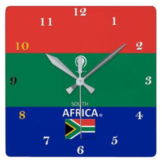 Horloge murale de concepteur de l'Afrique du Sud