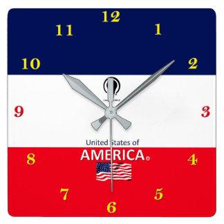 Horloge murale de concepteur des Etats-Unis