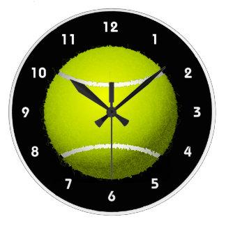 Horloge murale de conception de balle de tennis