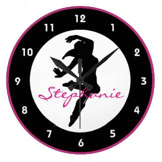 Horloge murale de conception de danse
