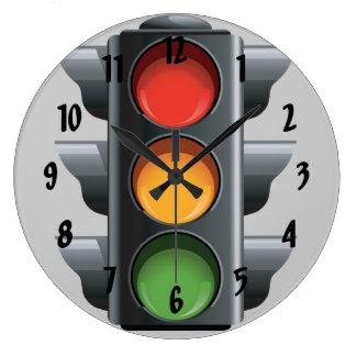 Horloge murale de conception de feu de