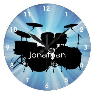 Horloge murale de conception de tambour