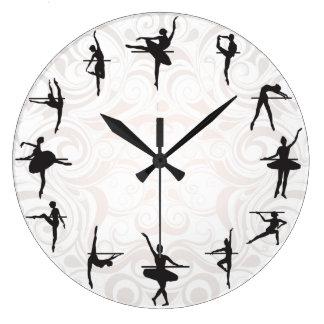 Horloge murale de danse de ballerine d'école de