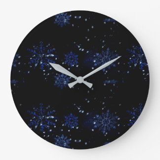 Horloge murale de flocon de neige