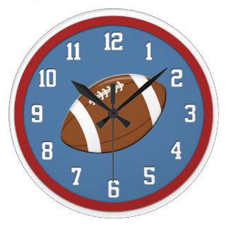 Horloge murale de football américain