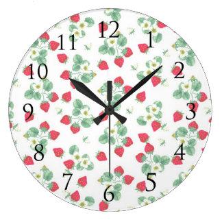Horloge murale de fraise