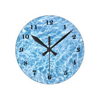 Horloge murale de l'eau de piscine