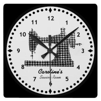 Horloge murale de machine à coudre de contrôle de