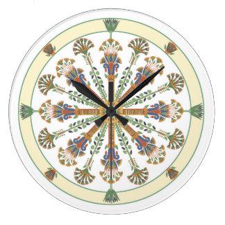 Horloge murale de mandala de Nouveau Lotus