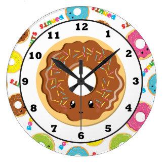 Horloge murale de motif de magasin de beignet