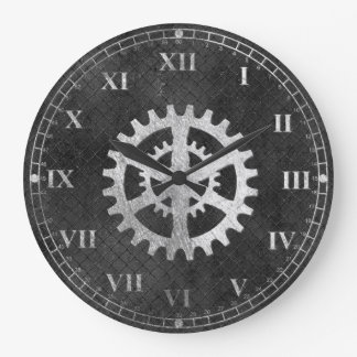Horloge murale de regard métallique rustique de