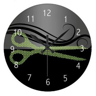 horloge murale de salon de coiffure