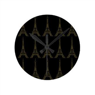 Horloge murale de thème de Paris de Tour Eiffel