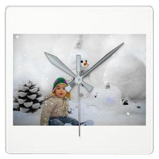 Horloge murale de vacances de Noël