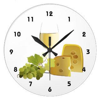 Horloge murale de vin et de fromage