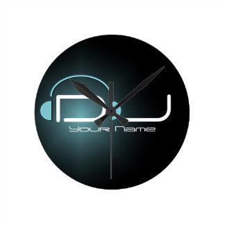 Horloge murale d'écouteur du DJ