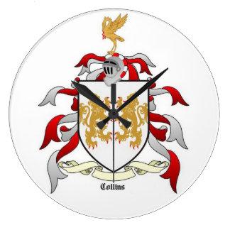 Horloge murale d'héraldique de crête de famille de