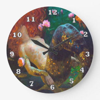Red Haired Mermaid 2 Wall Clock