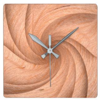 Horloge murale en bois simple de conception