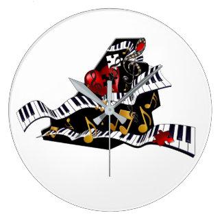 Horloge murale Juleez de décor de musique de