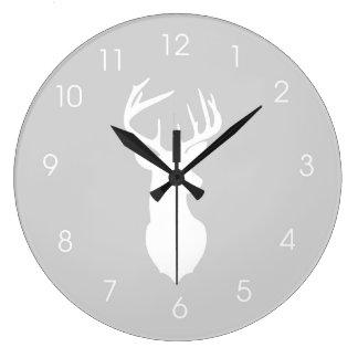 Horloge murale principale de mâle de chasseurs de