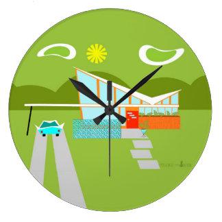 Horloge murale ronde de rétro Chambre de Palm