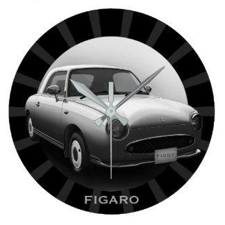 Horloge murale ronde de rétro voiture classique de