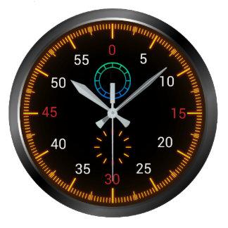 Horloge murale ronde de tachymètre