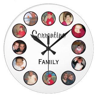 Horloge murale ronde personnalisée chic de photo