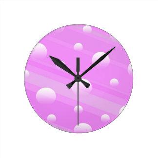 Horloge murale rose de conception d'abrégé sur