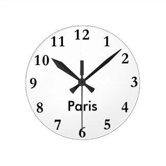 Horloge nommée de ville