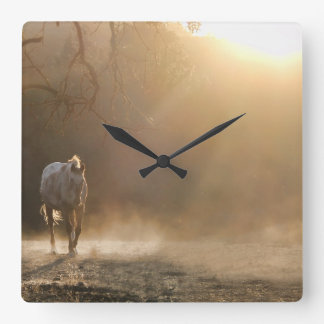 Horloge occidentale de cheval de beau pays