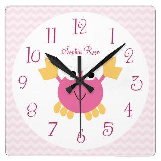 Horloge personnalisée de crèche de crabe de
