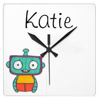 Horloge personnalisée pour des enfants - thème de