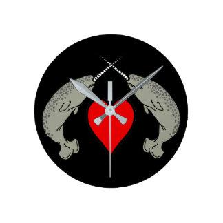 Horloge Ronde Amour de Narwhal