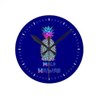 Horloge Ronde Ananas de Maui Hawaï