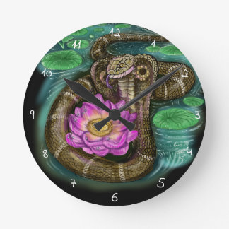 Horloge Ronde Année chinoise de zodiaque du serpent