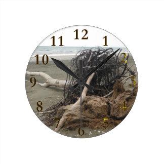 Horloge Ronde aotearoa de la Nouvelle Zélande de plage