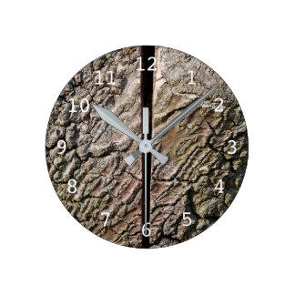 Horloge Ronde Arbre avec la coupe de centre