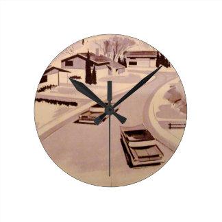 Horloge Ronde Architecture moderne de la moitié du siècle