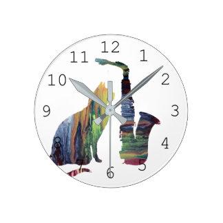 Horloge Ronde Art de chat