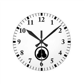 Horloge Ronde Banc de sable en cercle