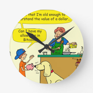 Horloge Ronde bande dessinée d'allocation de 915 bitcoin