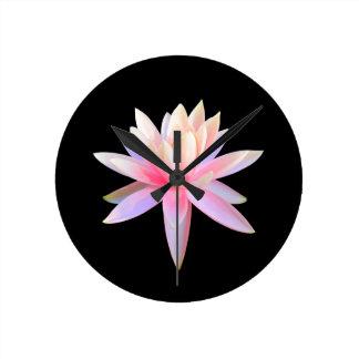 Horloge Ronde Beau cool d'art de Lotus à la mode