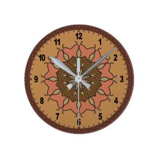 Horloge Ronde Beau patchwork perlé