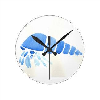 Horloge Ronde Bernard l'ermite bleu