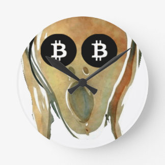 Horloge Ronde Bitcoin - le CRI PERÇANT